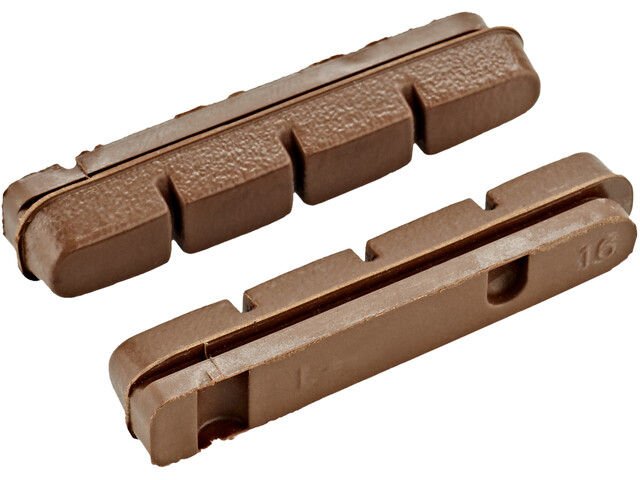 Clarks Pad Insert Brake Pads for Carbon Rims 50mm brown